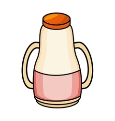 Milk bottle isolated icon vector