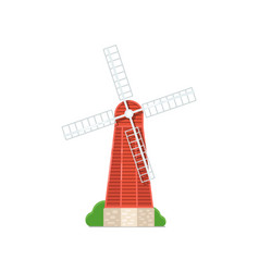 old windmill building isolated on white icon vector image