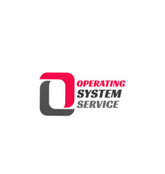 operating system service icon vector image