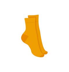 Orange socks pair isolated on white background vector