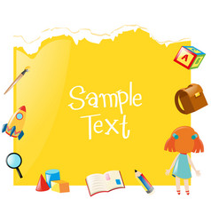 paper template with yellow background vector image