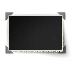 Photo frame with one not fixed corner vector image