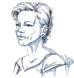 portrait of attractive woman of good-lookin vector image