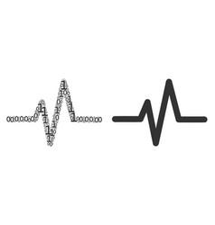 Pulse mosaic of binary digits vector