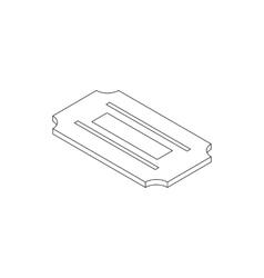 Razor blade icon in isometric 3d style vector