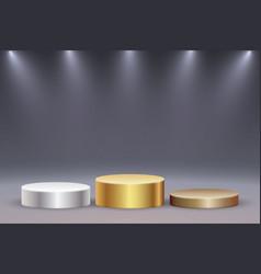 realistic platform or podium vector image