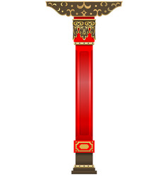Red column of the buddhist datsan vector