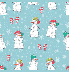 seamless pattern with hand drawn cute vector image