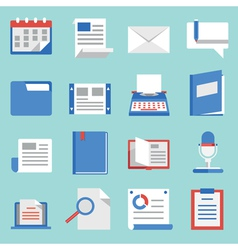 Set flat icons for web and mobile applications vector