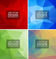 Set of geometric polygonal backgrounds vector