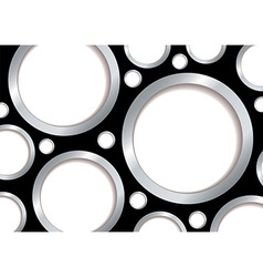 Silver bubble background vector image