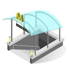 subway entrance isometric vector image