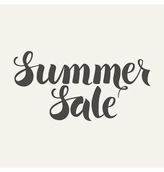 Summer Sale Handwritten Lettering vector image