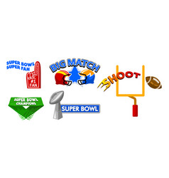super bowl event fancy badge vector image