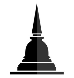 Thai pagoda sign icon flat symbol on white vector