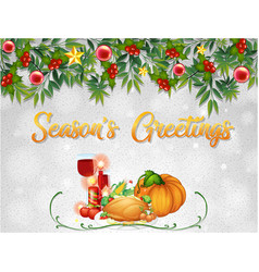 thanksgiving card template background vector image