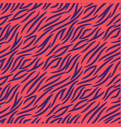 tiger stripes seamless pattern pink vector image