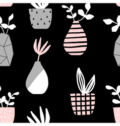Vases and Pots Seamless Pattern vector