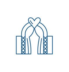 wedding line icon concept wedding flat vector image