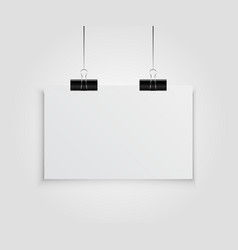 White Empty Poster Template vector