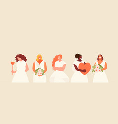 Women brides set vector