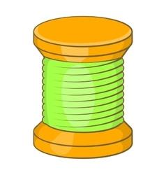 Wooden coil icon cartoon style vector