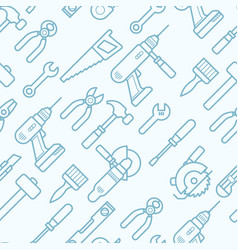 work tools seamless pattern with thin line icons vector image