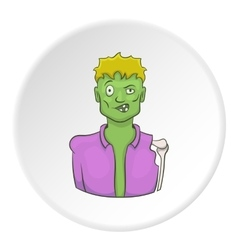 Zombie icon cartoon style vector