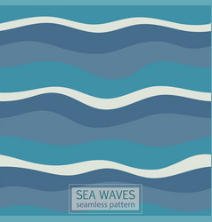 seamless pattern abstract wave vector image vector image