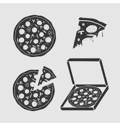 Set Symbols Pizza vector image vector image