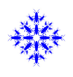 snowflake icon graphic collected from cockroaches vector image vector image