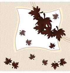 Autumn leaves invitation card vector image