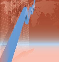 blue arrow graph vector image