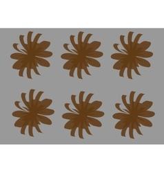 brown flowers-01 vector image