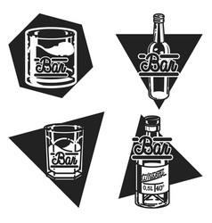 color vintage bar emblems vector image