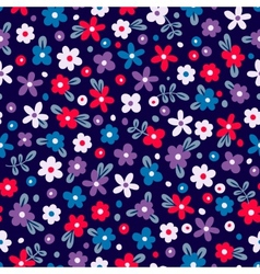Seamless pattern with cute flowers vector image vector image