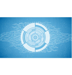 abstract technology on blue background vector image