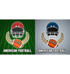 American football league college emblem vector image vector image