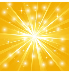 Bright sunburst with sparkles vector image vector image
