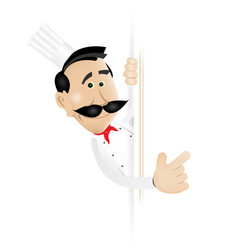 chef cook blank sign vector image