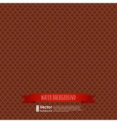 chocolate waffles background vector image