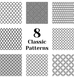 Classic seamless patterns vector image vector image