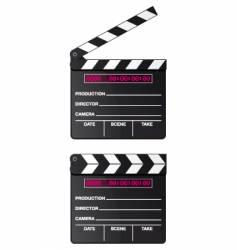 digital movie clapper board vector image vector image