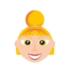 happy woman face cartoon vector image vector image