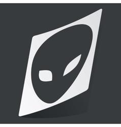 Monochrome alien sticker vector image