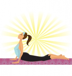 yoga positions vector image