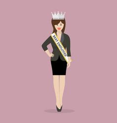best employee woman vector image vector image