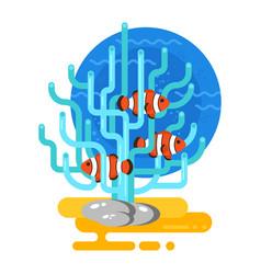 flat style of aquarium vector image vector image