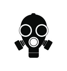 Gas mask black simple icon vector image