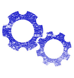 gears grunge textured icon vector image vector image
